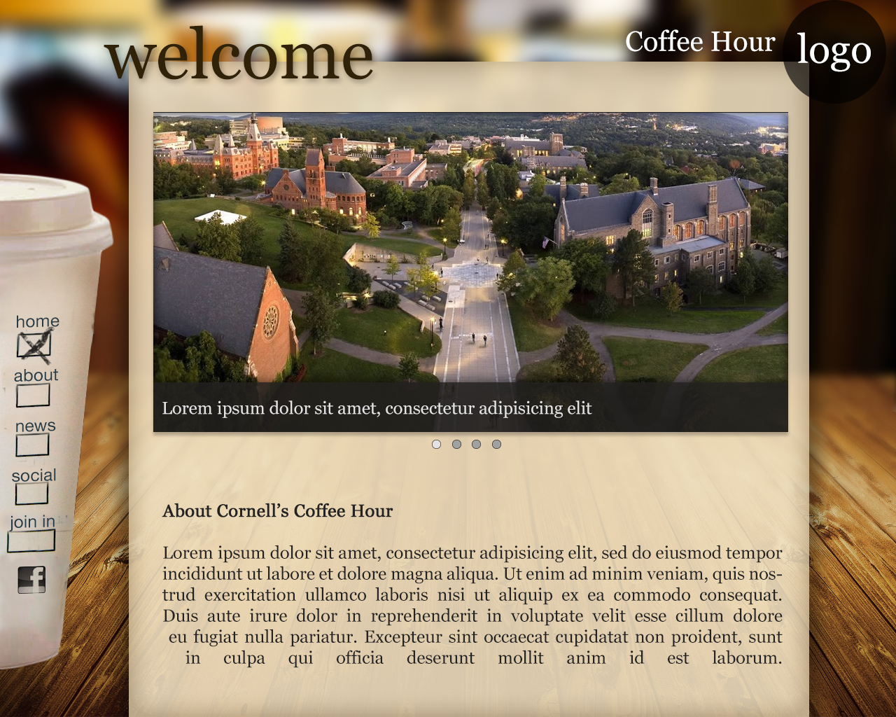 "Concept UI - Coffee Hour ""Home"""